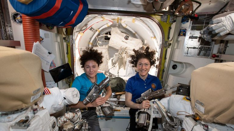 NASA's all-women spacewalk makes history after spacesuit ...