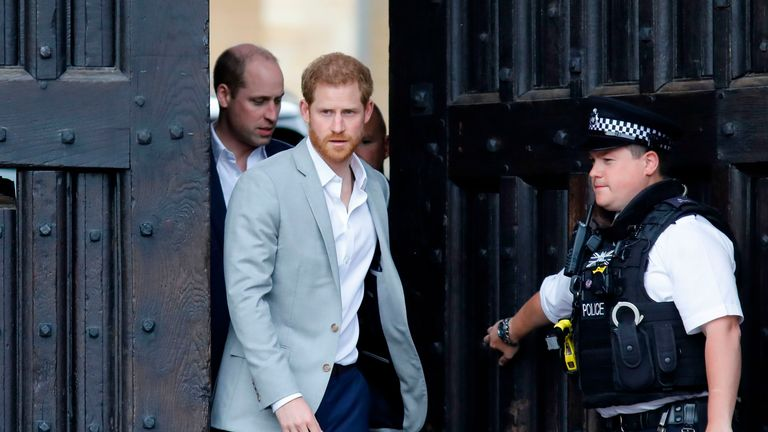 Prince Harry was asked about rumours of a rift with William