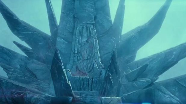 The Emperor's old throne makes an appearance in the trailer