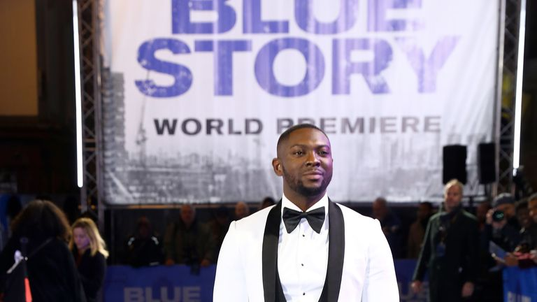 """LONDON, ENGLAND - NOVEMBER 14: Rapman attends the World Premiere of """"Blue Story"""" at Curzon Cinema Mayfair on November 14, 2019 in London, England. (Photo by Tim P. Whitby/Getty Images for Paramount)"""