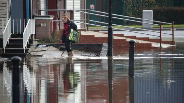 Floodwater in Bentley, Doncaster