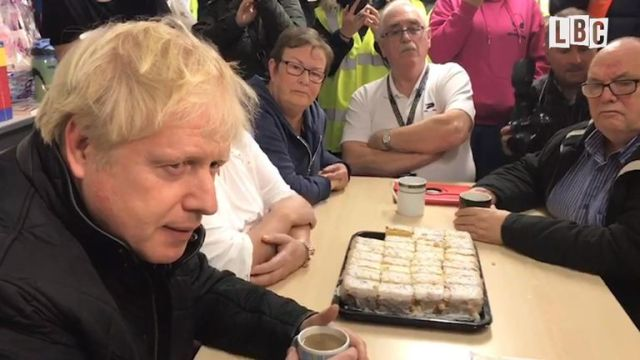 Prime minister Boris Johnson was faced with angry and frustrated local residents when he visited a donation centre in south Yorkshire