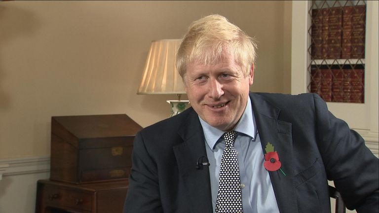 Prime minister Boris Johnson was quizzed on the naughtiest he'd ever done by Sky's Sophy Ridge