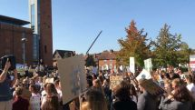 People protesting BP's sponsorship of the RSC