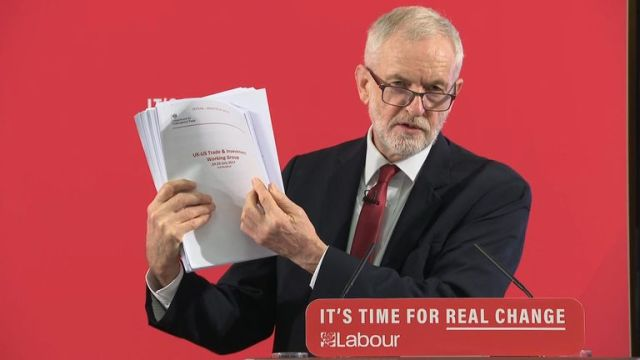 Corbyn speaking in Westminster about the NHS 27/11/19