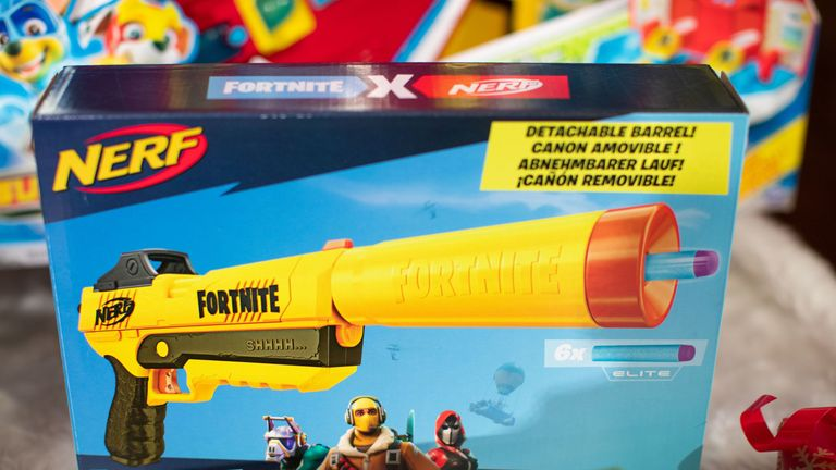 Nerf Elite Fortnite SP-L Hasbro toy made the top 12 in the annual DreamToys list