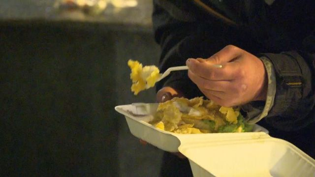 For the homeless people of Weston, a meal from volunteers is the only food they'll have all day