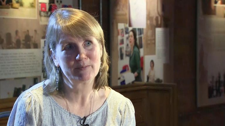 Jacqui O'Hanlon speaks to Sky News about the protesters