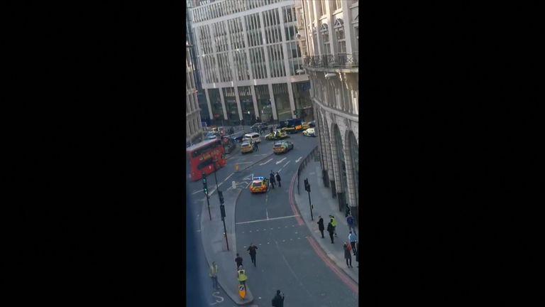 Police have arrived at the scene in London Bridge.