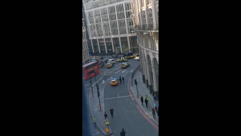 Police have arrived at the scene in London Bridge.