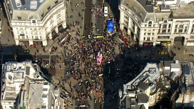 Protesters took over busy Oxford Circus in April