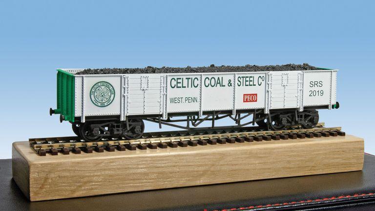 The Celtic coal wagon representing Sir Rod's football team