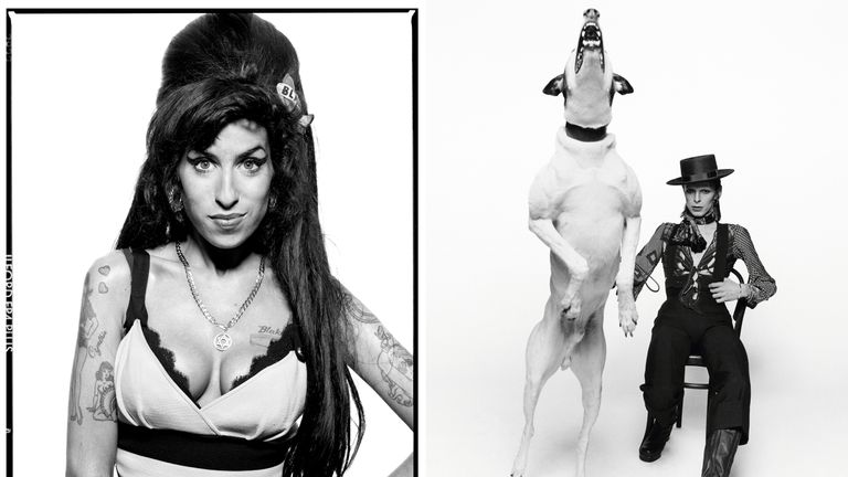 Terry O'Neill's pictures of Amy Winehouse and David Bowie. Pics: O'Neill/Iconic Images