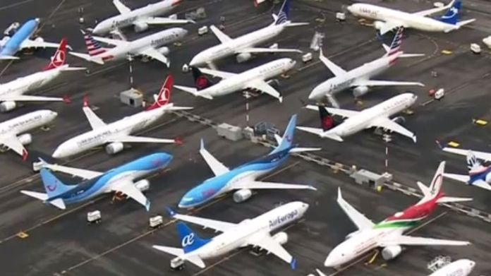 Boeing 737 MAX aircraft are stored in multiple locations in the United States