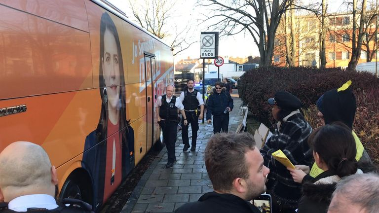 Police arriving in South London