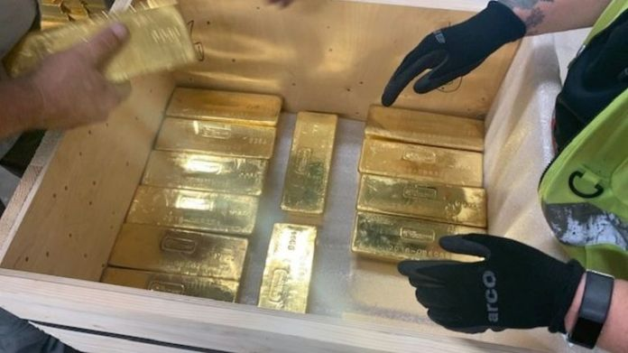 More than 100 tons of gold have been moved by G4S. Pic: G4S