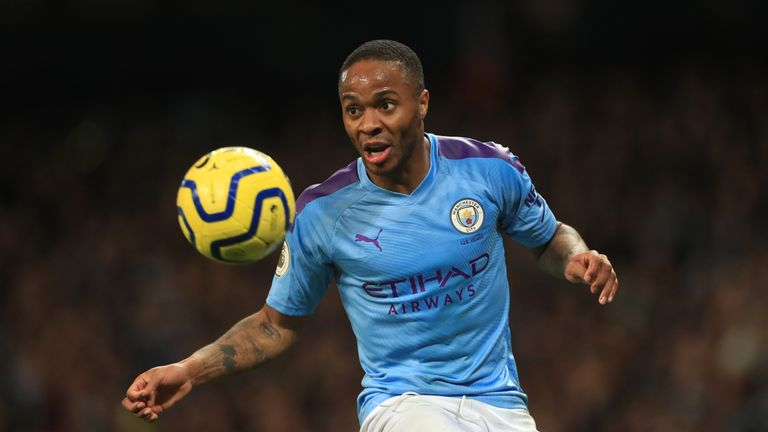 File photo dated 07/12/19 of Manchester City winger Raheem Sterling, as two Manchester City supporters have received five-year football banning orders from the courts and lifetime bans from the Premier League title holders after they admitted using racist language.