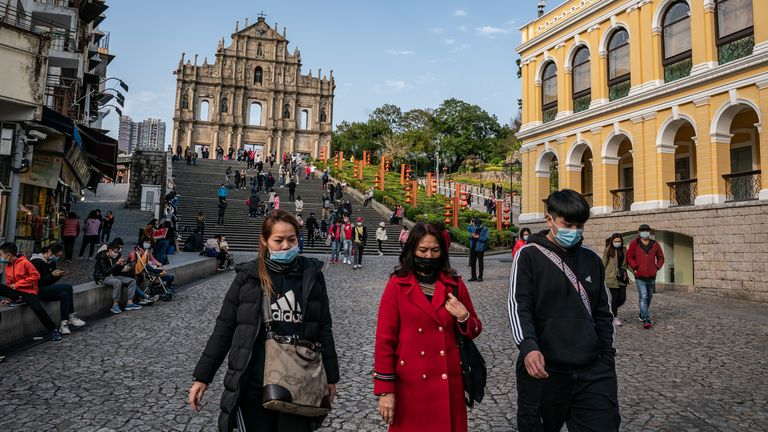There are confirmed cases of the virus in Macau