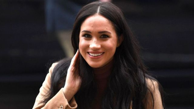 Meghan Duchess of Sussex arrives at Canada House, in London