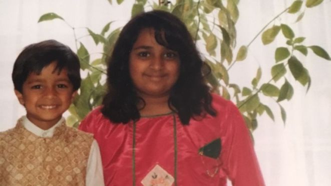 Tulsi before the accident which killed her parents and younger brother