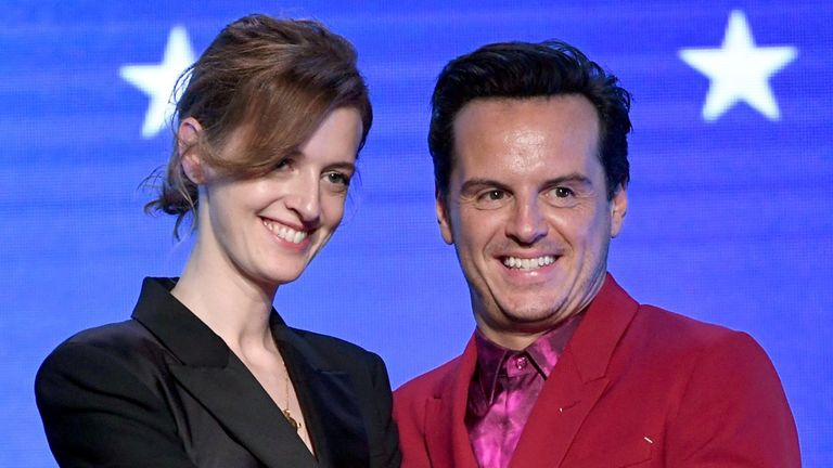 Isobel Waller-Bridge at the Critics Choice awards with Andrew Scott