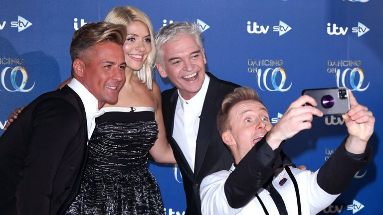 """Matt Evers, Willoughby, Schofield and Ian """"H"""" Watkins on Dancing On Ice"""