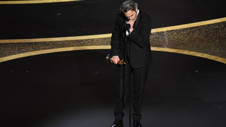 An emotional Joaquin Phoenix remembers his late brother River