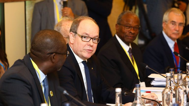 Prince Albert attended a WaterAid summit hosted by Prince Charles