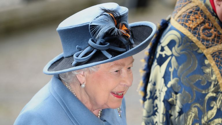 The Queen is joined by her family at Westminster Abbey