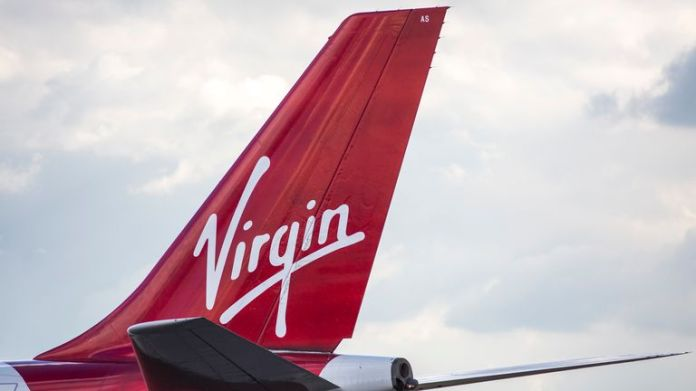 A Virgin Airways plane at Heathrow Airport on October 11, 2016 in London, England.