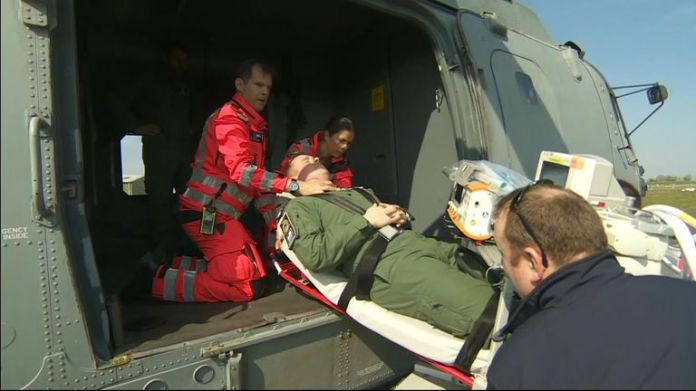 Covid Aviation Task Force training to transport patients and equipment