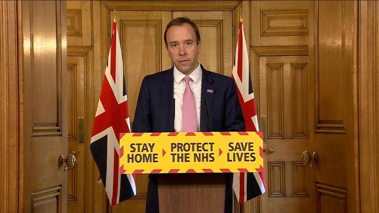 Matt Hancock Secretary of State for Health and Social Care