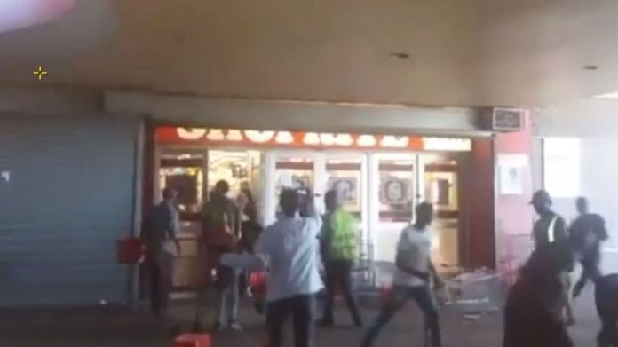 Looting in a store in South Africa