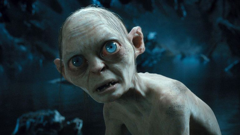 Andy Serkis as Gollum in The Hobbit - An Unexpected Journey