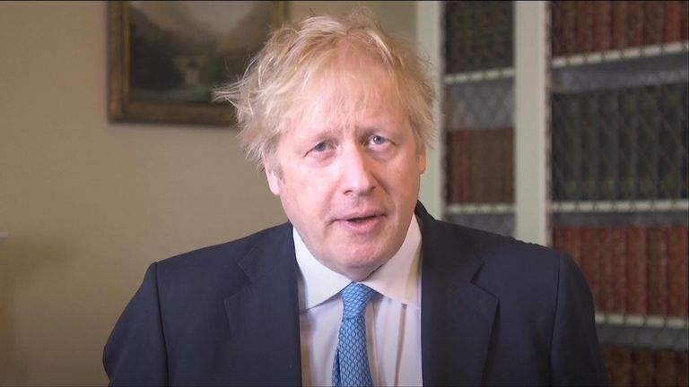 Johnson has said the UK is at the forefront of vaccine research,  pledging to donate £744m to the global coronavirus response.