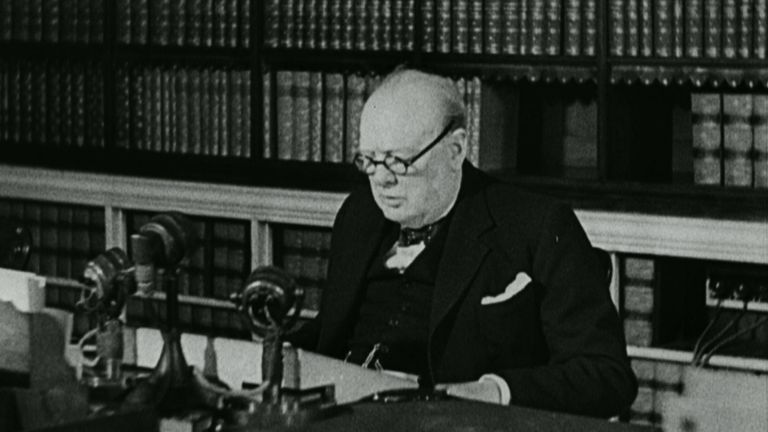Winston Churchill VE Day