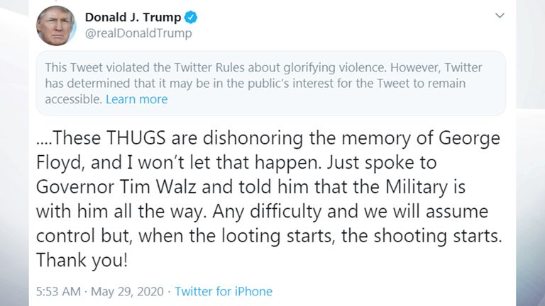 Twitter hides tweets from Trump and White House account for ...