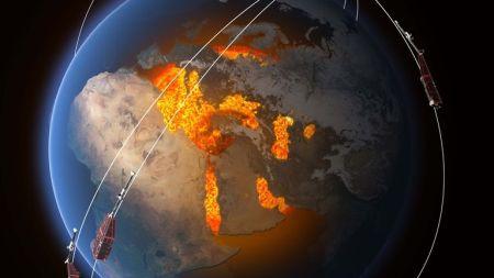Pensa-se que o campo magnético seja em grande parte gerado por um oceano de ferro líquido sobreaquecido e rodopiante que compõe o núcleo externo da Terra a 3000 km sob nossos pés. Atuando como o condutor rotativo em um dínamo de bicicleta, gera correntes elétricas e, portanto, o campo eletromagnético em constante mudança. Outras fontes de magnetismo vêm de minerais no manto e na crosta terrestre, enquanto a ionosfera, magnetosfera e oceanos também desempenham um papel. A constelação da ESA de três satélites Swarm é