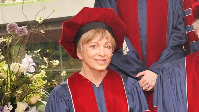 Harriet Heyman attends a ceremony at a performing arts university in New York