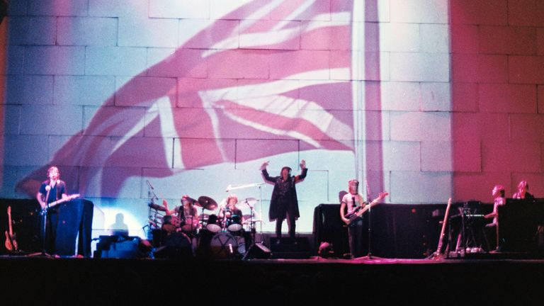 Pink Floyd, The Wall 14 June 1981 Earls Court. (Photo by Solomon N...Jie/Getty Images)