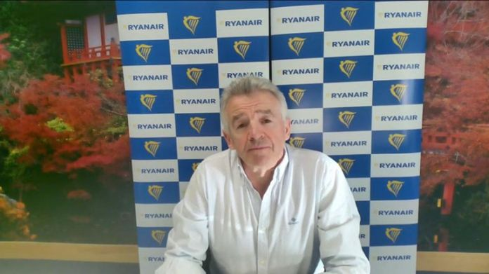 Ryanair CEO Michael O & # 39; Leary.