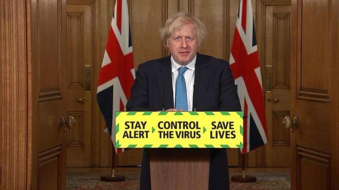 Prime Minister Boris Johnson leads the government's daily coronavirus press briefing