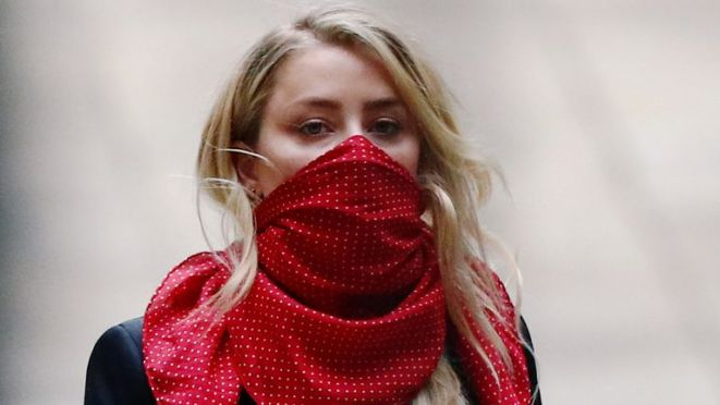 Actor Amber Heard arrives at the High Court in London, Britain, July 9, 2020. REUTERS/Hannah McKay