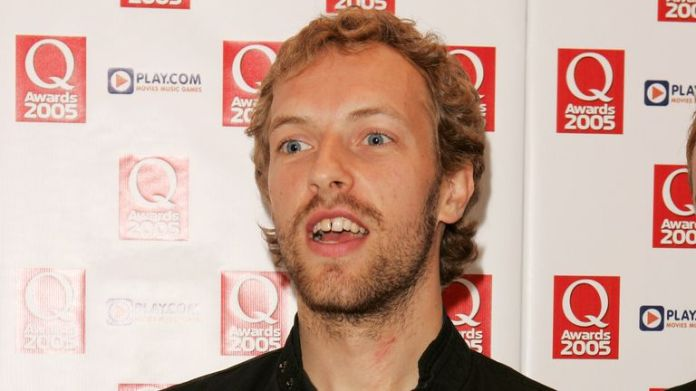 Chris Martin of Coldplay at the Q Awards in 2005
