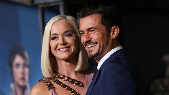 Katy Perry and Orlando Bloom attend the Los Angeles premiere of