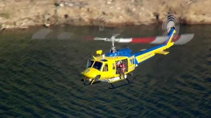 A search operation was launched using diving teams, helicopters and drones