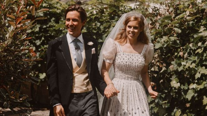 Princess Beatrice and Edoardo Mapelli Mozzi on their wedding day