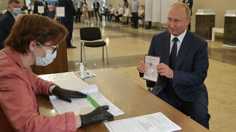 President Vladimir Putin voted in Moscow