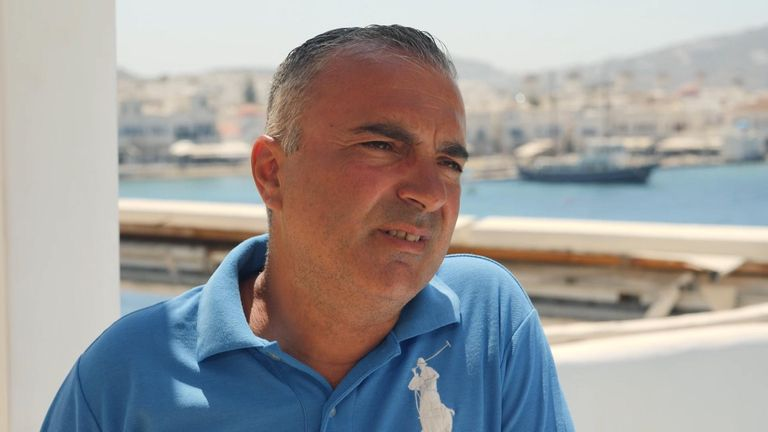 Peter Nazo, cameraman for MYKONOS TV LIVE