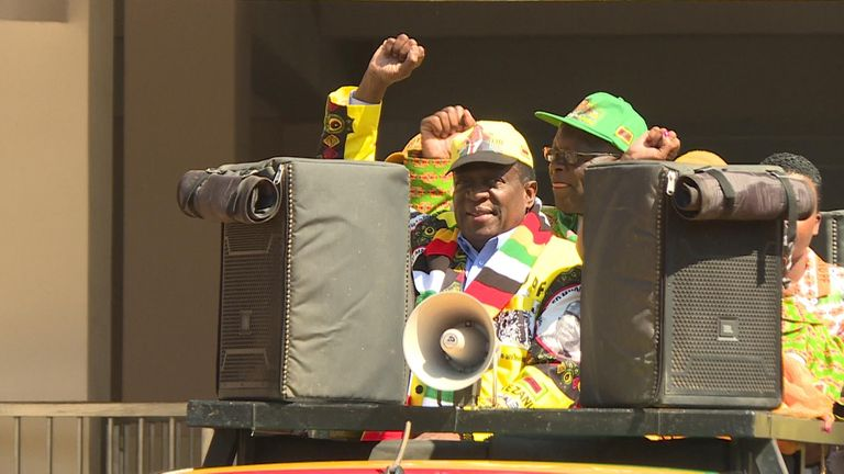 President Emmerson Mnangagwa took power in 2017